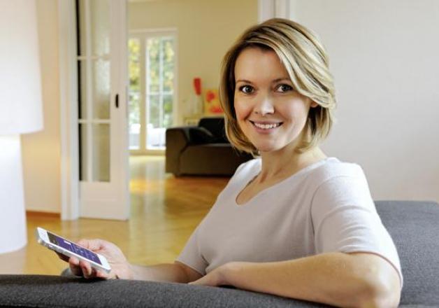 Garagedeuraandrijving Hörmann app op smartphone